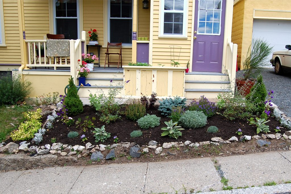 Small Front Yard Landscaping Ideas With Rocks A Blog To Home Enchanting Small Front Garden Design Ideas