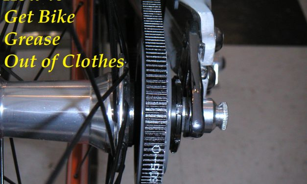 How to Get Bike Grease Out of Clothes
