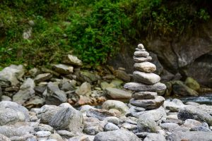 Thoughtful Edging with Rocks