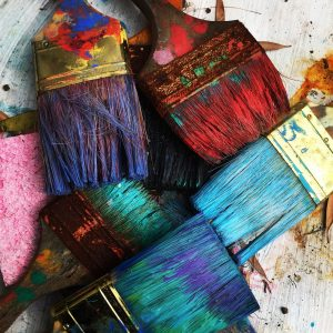 how to clean dried paint brush